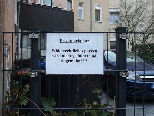 Falschparkerabmahnung