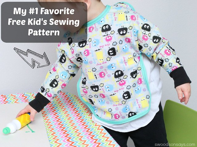 Free Kids Art Smock Pattern