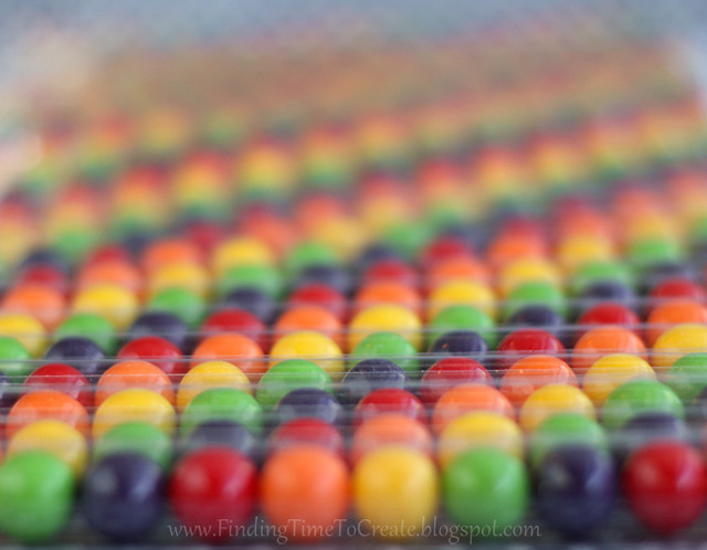 Rainbow Candy Tubes lined up