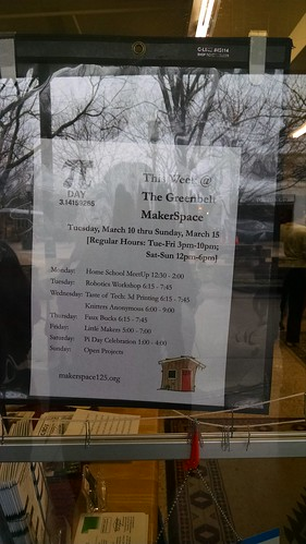 Pi Day, Makerspace 125, March 14, 2015