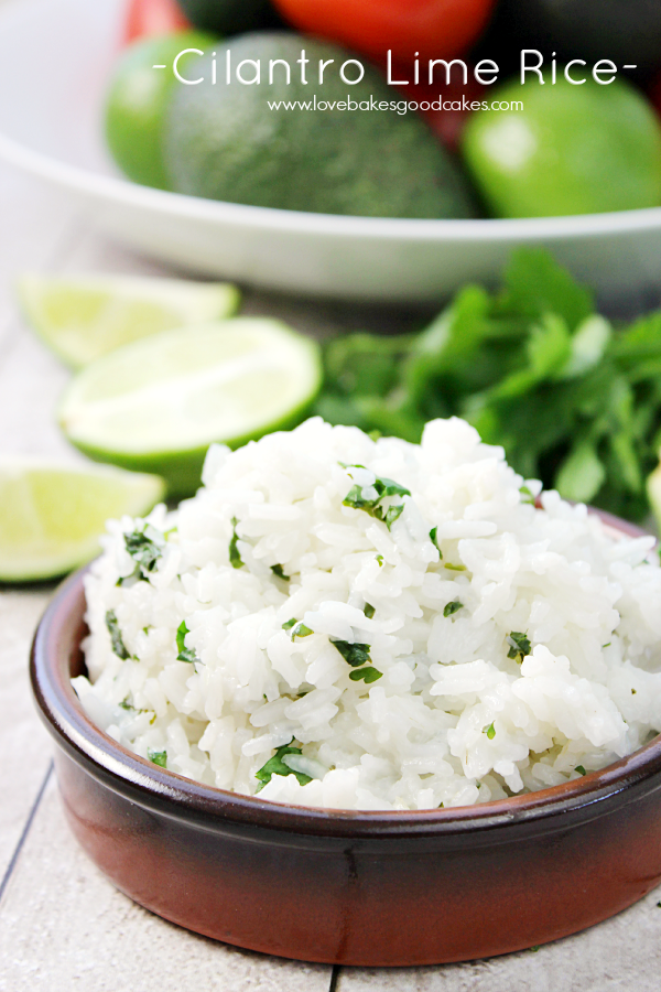 Easily transform plain rice into this lively Cilantro Lime Rice dish. It makes the perfect accompaniment to a Mexican dinner!