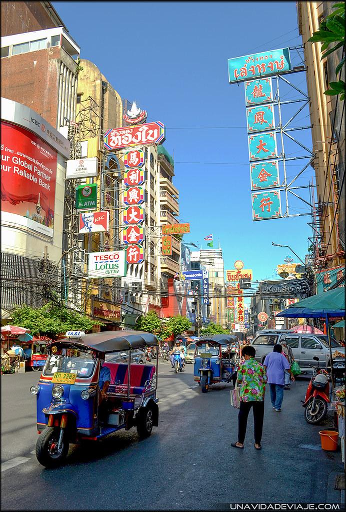 Recorrido por Bangkok chinatown
