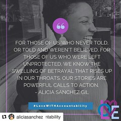 #Repost @aliciasanchez with @repostapp ・・・ I submitted a piece to The Feminist Wire about child sexual abuse and weaving networks of care and healing for survivors. :sparkles: read more here: http://ift.tt/2duUArn
