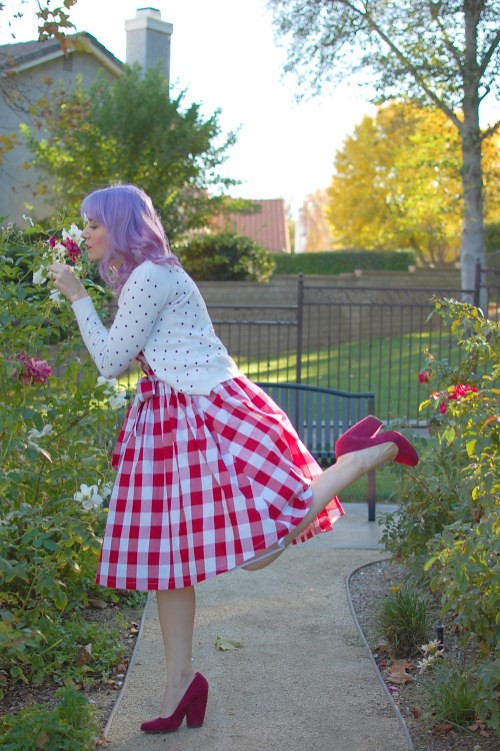 Lindy Bop Audrey dress in Red Gingham 011