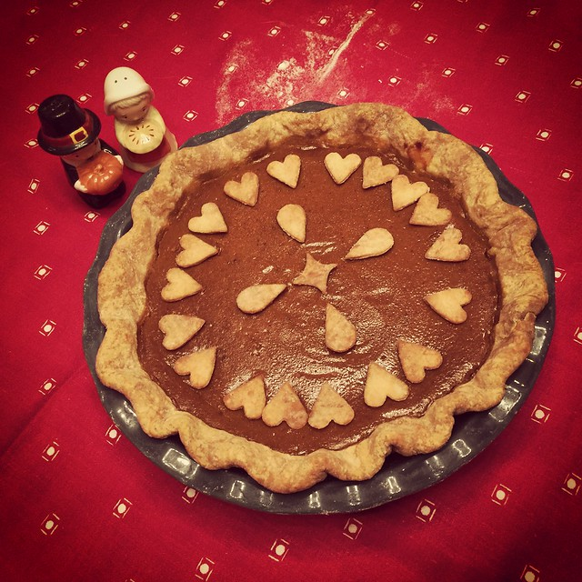 Brown butter pumpkin pie for Thanksgiving. Nailed it!