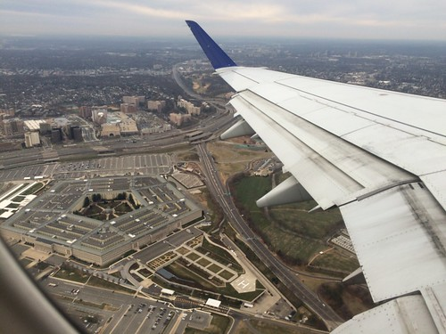 Pentagon view after takeoff from DCA