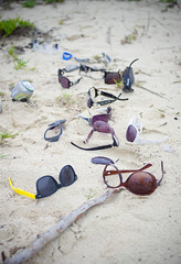 Garbage Sunglasses Beach Monument