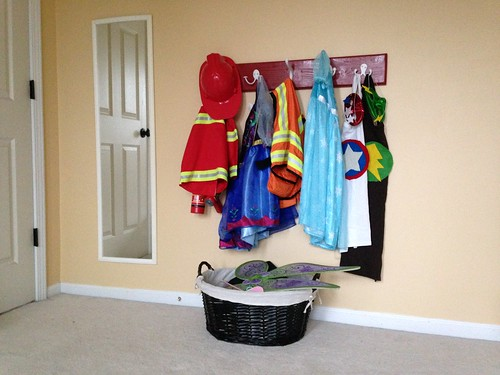 DIY Dress-Up Clothes Storage Rack