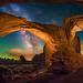 Double Arch Panorama by Wayne Pinkston