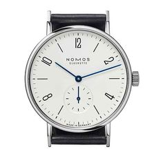 The #nomos Tangente, which applies Bauhaus design principles to the dial, is the brand's flagship timepiece.