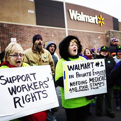 This year, Black Friday has been marked by sizable protests in major US cities, calling on Walmart to raise the minimum wage of their workers to $15. Do you #standwith #walmartstrikers? #blackfriday #thanksgiving #black #friday #shopping #walmart #workers