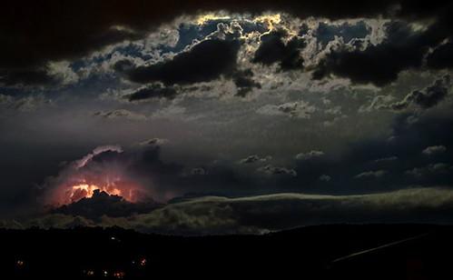 sky night landscape australia fullmoon canberra lightning queanbeyan garyschafer