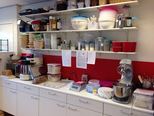 Keuken van de workshopruimte