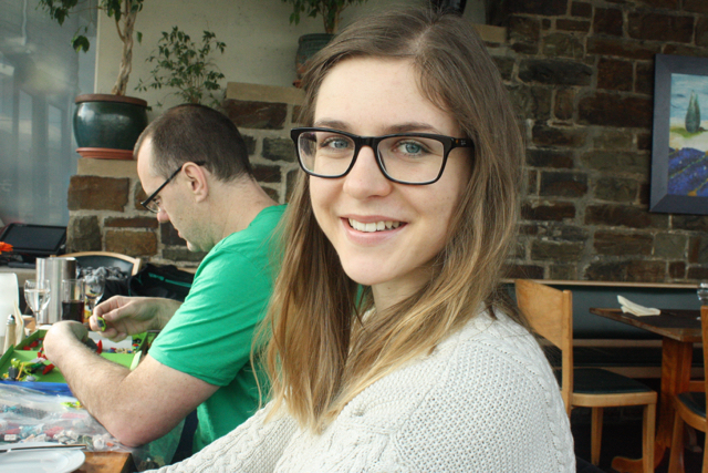 My beautiful sister, Katarina, at lunch in Bastei, Bonn