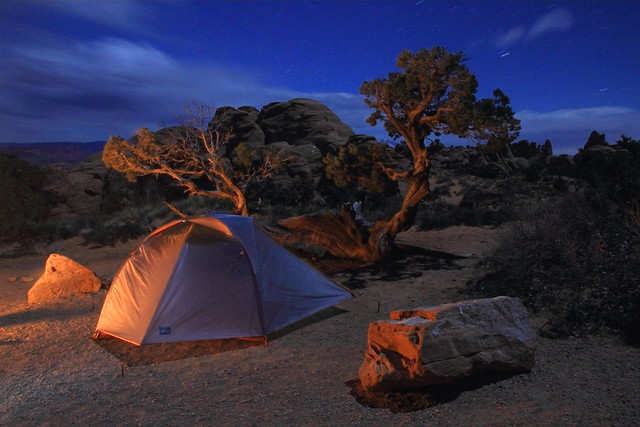 Arches camp