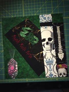 Block 3 for my personal quilt. All Dark Arts!!