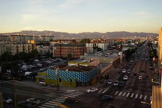 Sunset over L.A. - Wilshire and La Brea