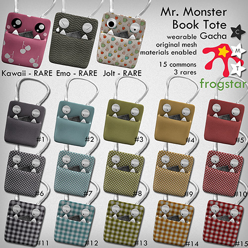 Frogstar - Mr Monster Book Tote Gacha Poster