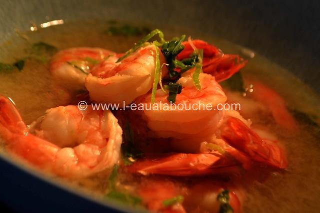 Bouillon Thaï aux Crevettes © Ana Luthi Tous droits réservés