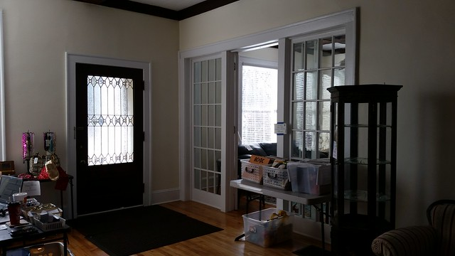 20150108_112852 2015-01-08 1260 Fairview Druid Hills Atlanta shingle interior widows and french doors cut glass doors stained