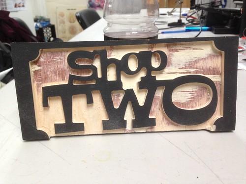 CRASHspace Shop Two sign