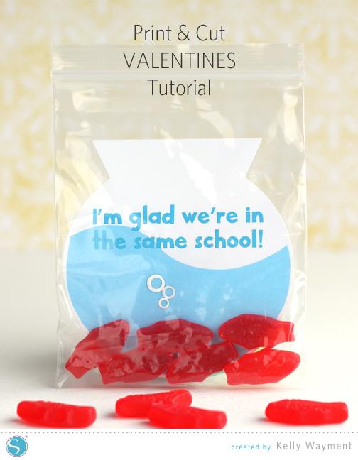 Print & Cut Fishy Valentines by Kelly Wayment