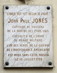 Photo of John Paul Jones white plaque