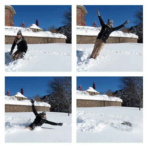 fall into snow Hannah