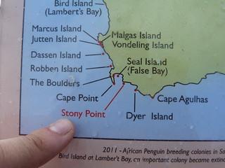 Mapa de situación de Stony Point en Sudáfrica
