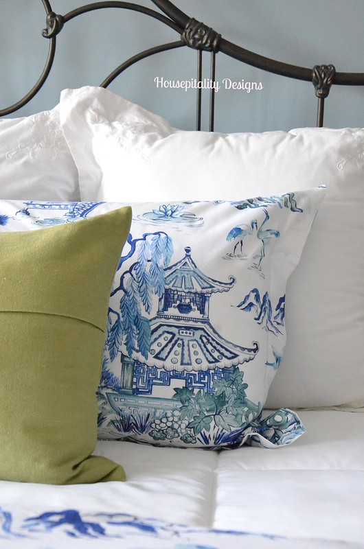 Guest Room/Pottery Barn Darcy Toile Bedding-Housepitality Designs
