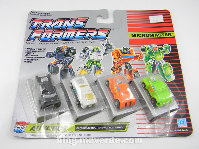 Transformers Micromaster Hot Rod Patrol (Big Daddy, Trip Up, Greaser, Hubs) - Transformers G1 Micromasters - caja