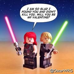 #LEGO #Valentine #SpreadTheLove #ValentinesDay #StarWars #Mara #Jade #MaraJade #Luke #Skywalker #LukeSkywalker @lego_group @lego @StarWars