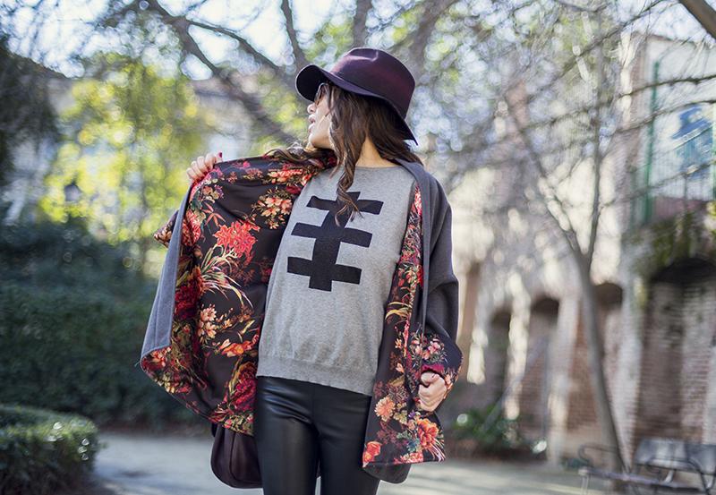 street style barbara crespo khemeia kimono reversible hakei sneakers marc by marc jacobs bag fashion blogger outfit blog de moda
