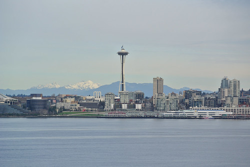 A Winter Picnic - Space Needle and Ferry