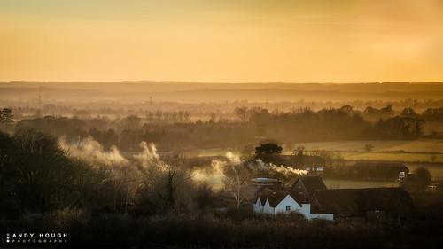 sunset england landscape golden haze unitedkingdom sony sunday lazy hazy oxfordshire goldenhour wittenhamclumps southoxfordshire littlewittenham a99 sonyalpha andyhough earthtrust slta99v andyhoughphotography