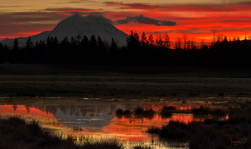 sun reflection sunrise canon pond mountrainier pacificnorthwest tamron t4i ndgrad 1riverat matthewreichel