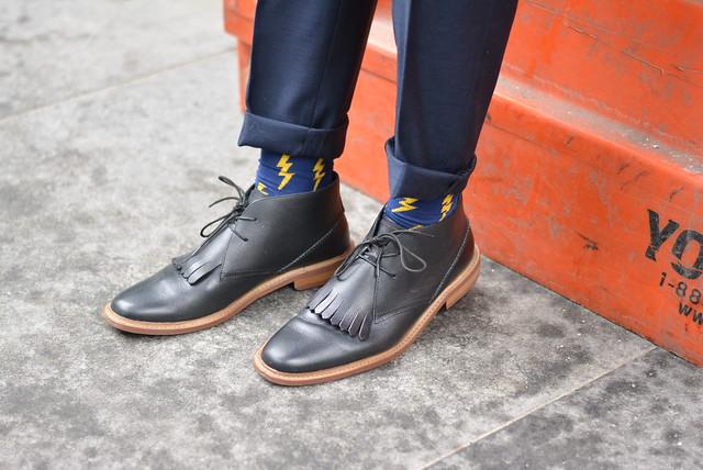 Ties.com socks chukka boots nyfw