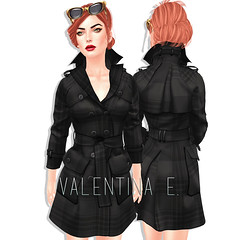 NEW! Valentina E. Sophie Belted Trench!