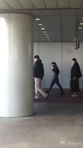 Taeyang arrival beijing airport 2015-01-31 - 2