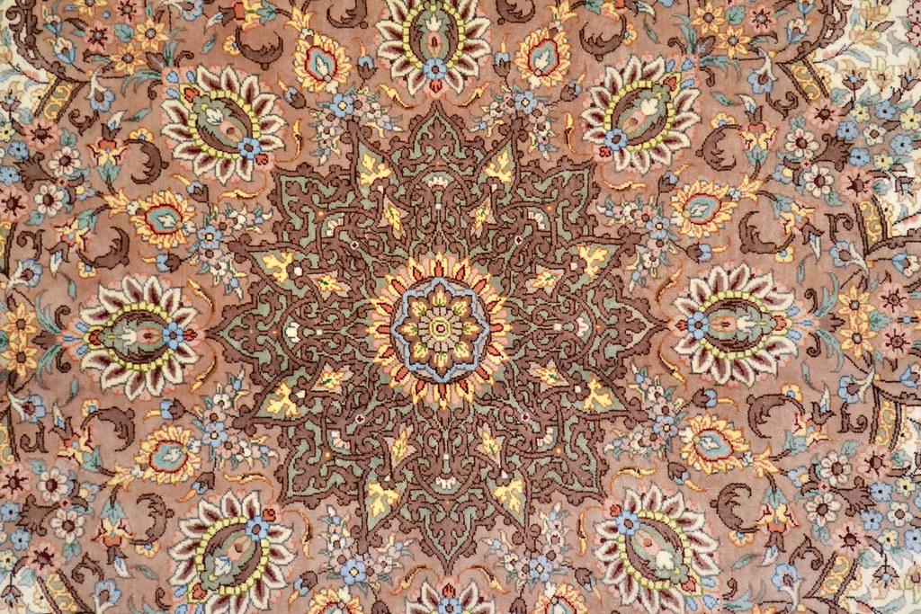 Qum Pure Silk 7x10 Persian Rug (6)