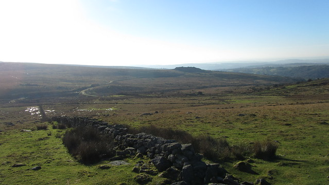 Looking to Ingra Tor in the distance