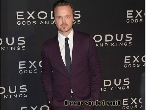Men's deep violet suit