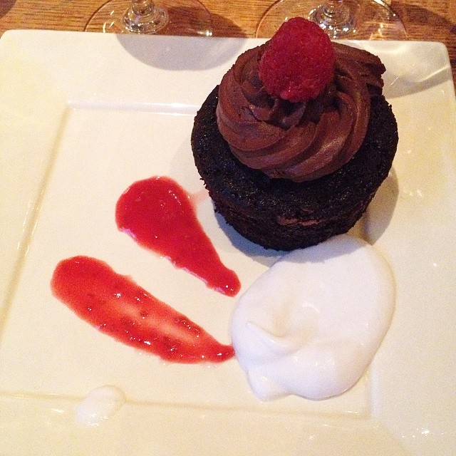 Fourth Course: chocolate mousse cupcake #vegan #isalive
