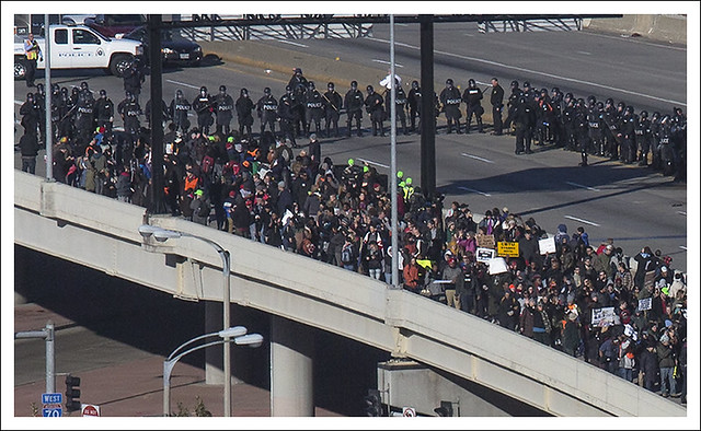 Protesters Close I 70 2014-11-25 3