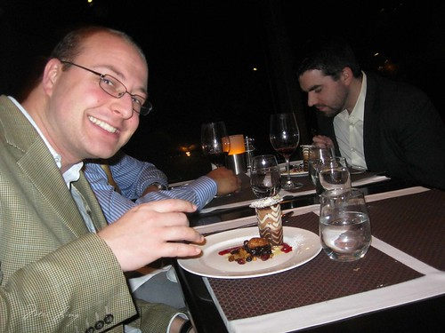 Dan with dessert