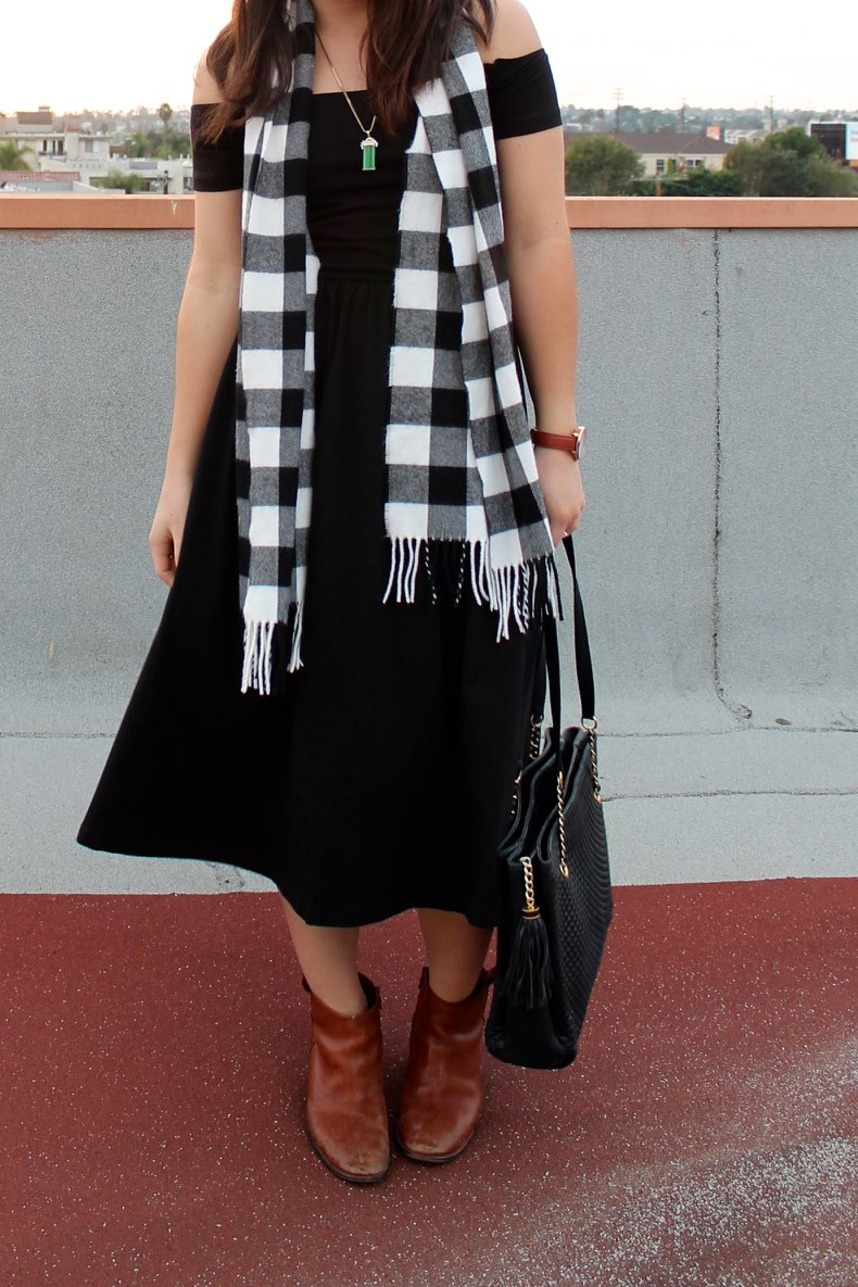 holiday #style: how to make a little black dress more casual