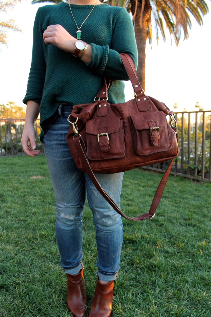 brown leather accessories #style #fashion #ootd