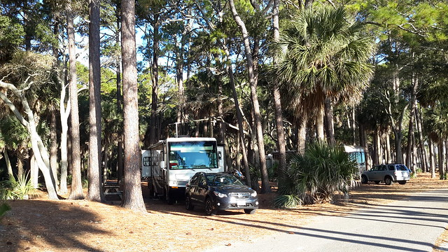 Our campsite at Hunting Island State Park Campground