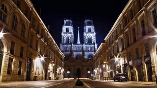 Cathédrale Sainte-Croix Orléans by night