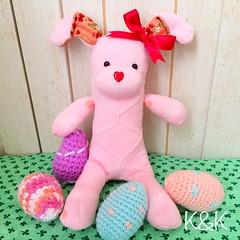 This Sock Bunny was born on February 27, 2015. ソックバニーが生まれました♡  #sockbunny #sockrabbit #sockanimal  #handmade #amigurumi #crochet #easter #kawaii  #ソックバニー #ソックラビット #ハンドメイド #ぬいぐるみ #あみぐるみ #イースター #かわいい #Etsy #Creema #minne